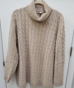 Isaac Mizrahi Cashmere Cowl Neck Sweater
